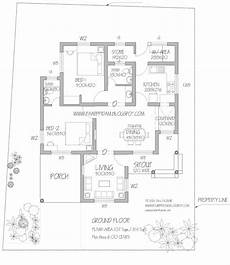 free kerala house plans low budget 2 bedroom home plan with 1151 square feet in 6