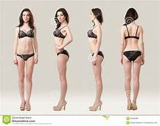 female model front and side from all sides stock photo image of gorgeous female