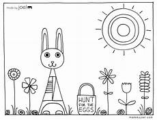 easter coloring sheet hunt for the eggs made by joel