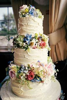 colourful home made village hall wedding wedding cakes