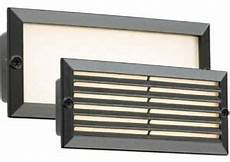 contemporary outdoor black outdoor recessed 5w led brick wall light ip54 grill ebay