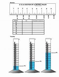 length volume worksheet