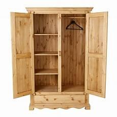 armoire penderie rustique en pin 2 portes 1 tiroir