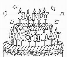 Gratis Malvorlagen Happy Birthday Happy Birthday Coloring Pages To Print At Getcolorings