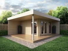 modernes gartenhaus mit terrasse hansa lounge 12m 178 44mm