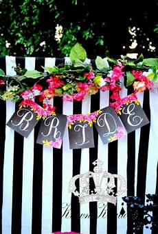 pink black and white bridal wedding shower party ideas