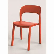Chaise De Jardin En R 233 Sine Plastique Ona Orange Leroy