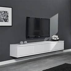 meuble tv a suspendre meuble tv suspendu laqu 233 blanc design achat vente