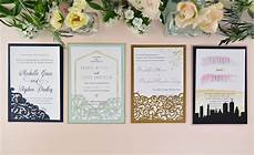how to diy laser wedding invitations with slide in cards