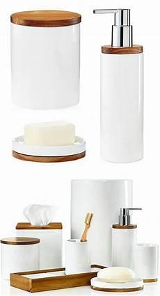 accessoire salle de bain accessoires salle de bain bois