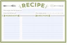 recipe card template 4x6 free editable recipe card templates 4x6 flowersheet