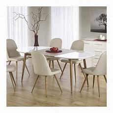 table 224 manger ovale extensible bois et blanc laqu 233 miya