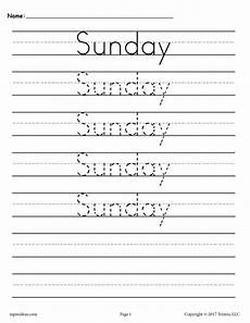 cursive handwriting worksheets days of the week 21350 7 free handwriting worksheets days of the week supplyme