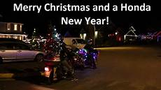 merry c90 christmas and a honda new year christmas motorcycle youtube