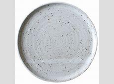Earthware Handmade Dinner Plate, Speckled White