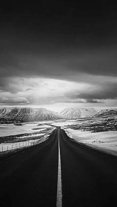 black and white road iphone wallpaper road to heaven snow mountain nature winter iphone 7
