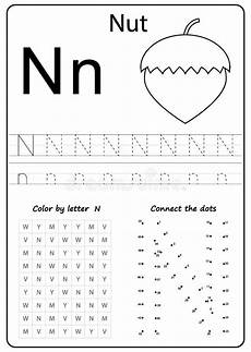 letter n worksheets for toddlers 23232 writing letter n worksheet writing a z alphabet exercises for stock vector