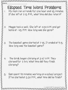 elapsed time math worksheets 3rd grade 3673 elapsed time word problems freebie great suggestion for a third grade math