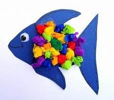 fische basteln mit kindern aquarium aus karton und tonpapier tiere basteln meine