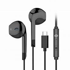 Langsdom Type Hifi Connector Wired by Langsdom V6t Hifi Type C Wired Stereo Earphone Black