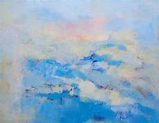 calming modern elisaveta sivas blue calm sky painting artwork
