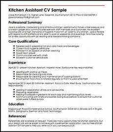 kitchen assistant cv sle myperfectcv sales resume
