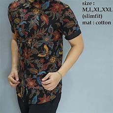 jual kemeja batik slim fit pria lengan pendek baju batik kerja modern baju batik untuk kerja