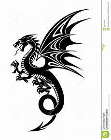 Drachen Schwarz Weiß - schwarzer drache vektor abbildung illustration magie