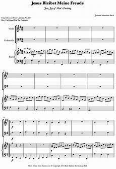 bach jesu bleibet meine freude sheet music for piano trio 8notes com