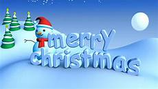 stock video clip of merry christmas in winter snow landscape