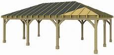 3 bay carport beam green oak or douglas fir low pitch hip roof