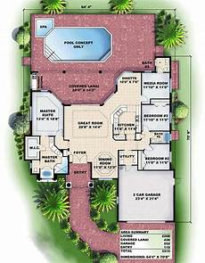 1 story mediterranean house plans one story mediterranean house plan with lovely lanai