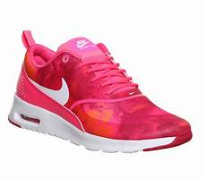 nike air max thea pink pow white print junior