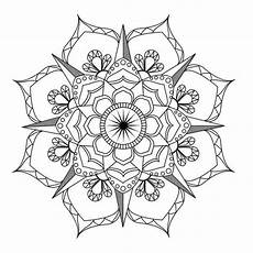 Vorlagen Mandala - flower mandala coloring page coloring therapy