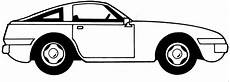 einfaches auto seitlich ausmalbild malvorlage auto