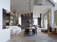Essbereich Haus Offene Raumgestaltung Hohe Decken