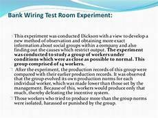 godown wiring experiment chapter 1 organizational behaviour