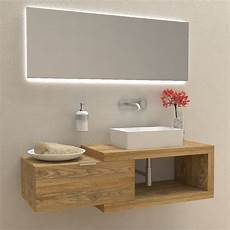 mobili bagno legno naturale arena 60 in legno massello mobile completo arredo bagno