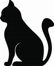 schwarze silhouette einer katze vektor abbildung