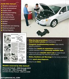 auto repair manual online 2009 chevrolet cobalt on board diagnostic system chevrolet cobalt 2005 2010 pontiac g5 2007 2009 pontiac