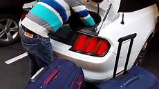 Ford Mustang 2016 2017 Convertible Boot Trunk Size