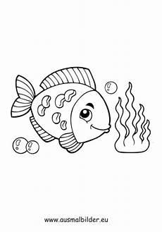 Malvorlage Fisch Mit Schuppen Ausmalbild Fisch Unter Wasser Kostenlos Ausdrucken