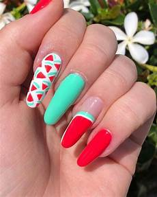 35 watermelon nails art design you must try nailsnotes