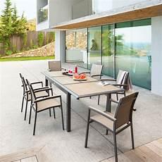 table de jardin extensible azua taupe anthracite
