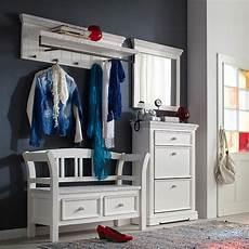garderobe vintage weiss landhaus garderobe massiv wei 223 flurgarderobe hutablage