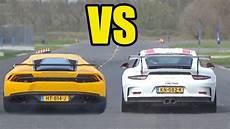 lamborghini huracan vs porsche 911 gt3 rs drag race