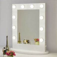 white makeup vanity mirror with light dimmer