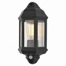 athena outdoor half wall lantern with pir sensor litecraft