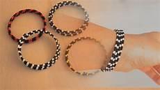 einfaches freundschafts armband aus perlen und spiral