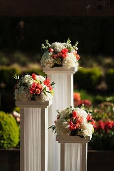Flower Pillars Wedding seattle wish upon a wedding vow renewal wedding pillars